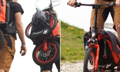 Bicikl koji staje u ranac