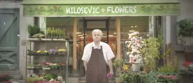 Milošević kao cvećar