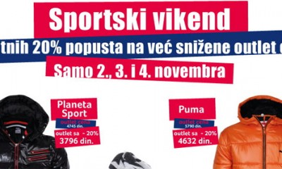 Sportski vikend u Fashion Parku Outlet Centru Inđija