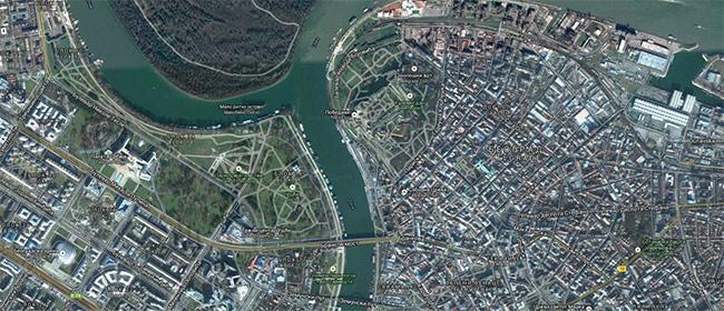 mapa beograda satelitska Stižu još bolji satelitski snimci   Domino magazin mapa beograda satelitska