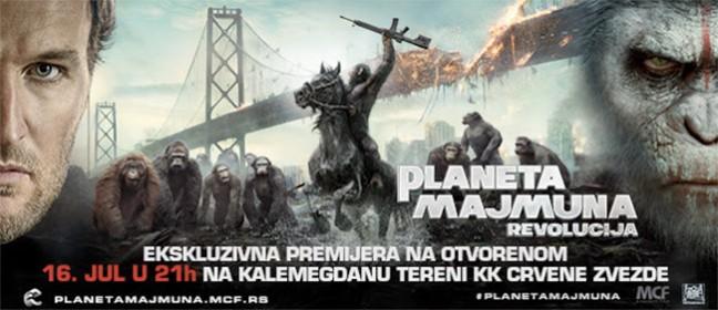 Planeta majmuna: Revolucija - Premijera na otvorenom