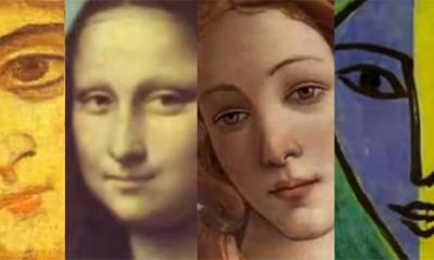 500 godina ženskog lica u 3 minuta