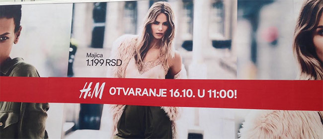 H&M u Knezu od 16. oktobra