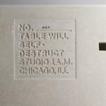 Betonski sto koji će se sam uništiti