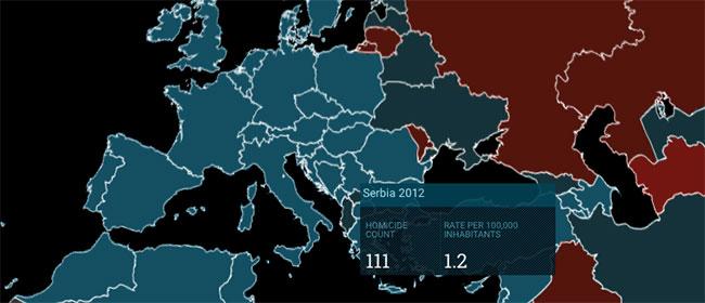 Svetska Mapa ubistava: Gde je Srbija?