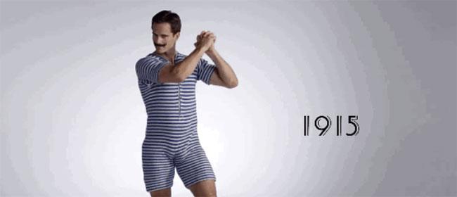 Evolucija kupaćih od 1915. do danas