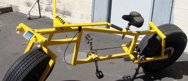 Bicikl od auto delova