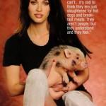 Megan Fox voli životinje