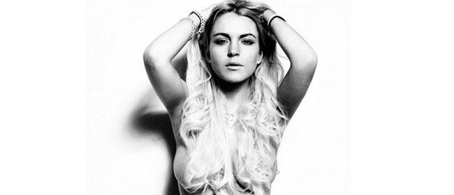 Lindsay Lohan u toplesu