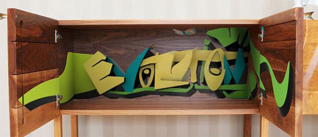 Grafiti nameštaj