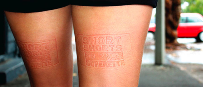 Duge noge kao reklama