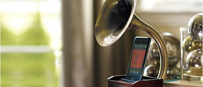 Starinski zvučnik za iPod