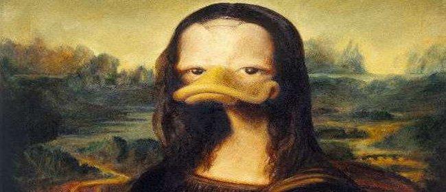 Mona Liza sa pačijim kljunom