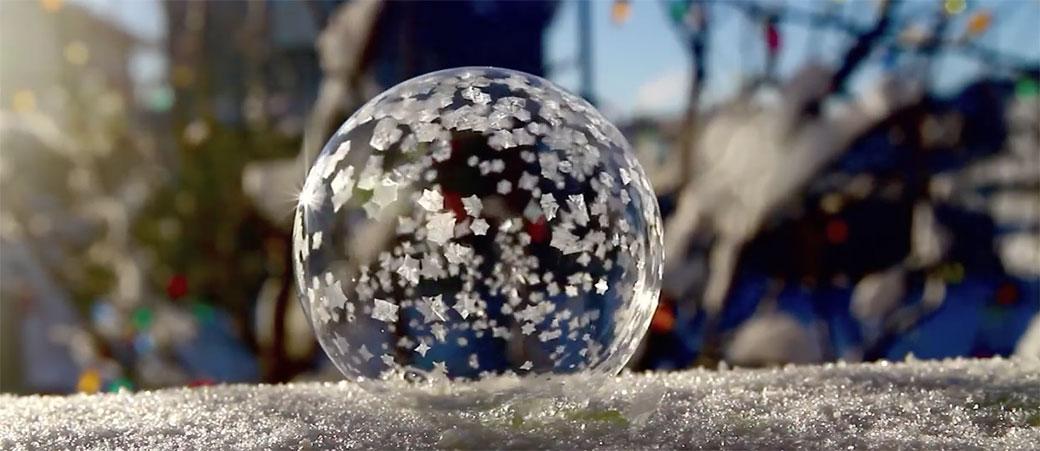 Balon koji smrzava je neobično lepa pojava