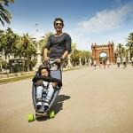 Skejt i kolica za bebe u jednom
