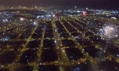 Novogodišnji vatrometi snimljeni iz vazduha su čudesni  %Post Title
