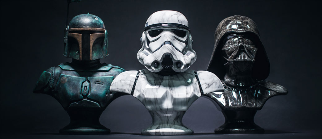 Slika: Kamene Star Wars skulpture