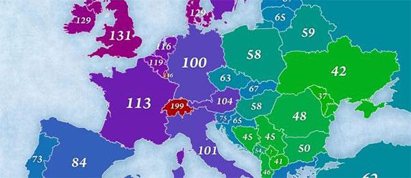Gde je Srbija u poređenju sa Evropom