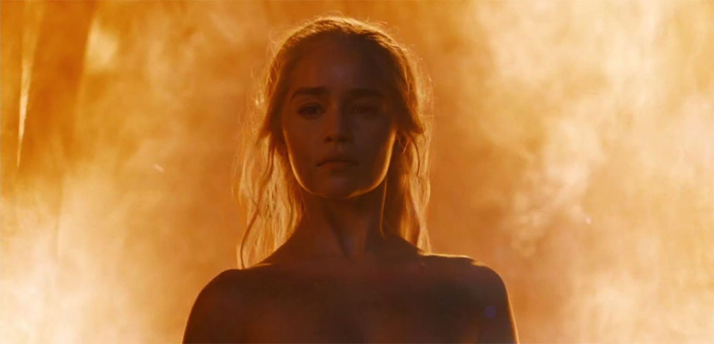 Slika: Majka Zmajeva o golotinji u Igri prestola