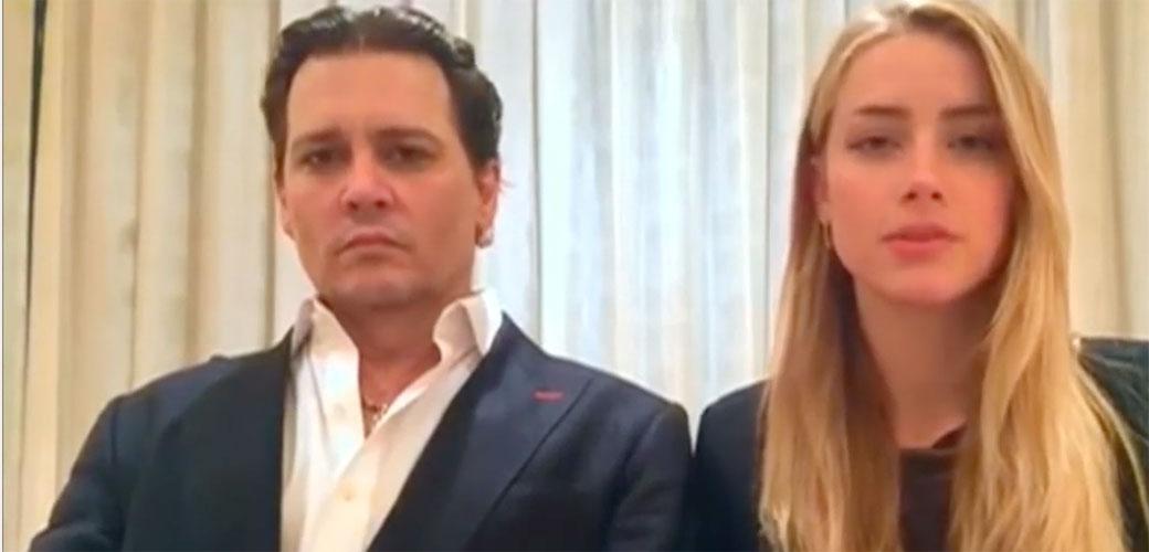 Slika: Amber Heard i Johnny Depp na sudu