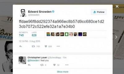 Šta je to twitnuo Edward Snowden?  %Post Title