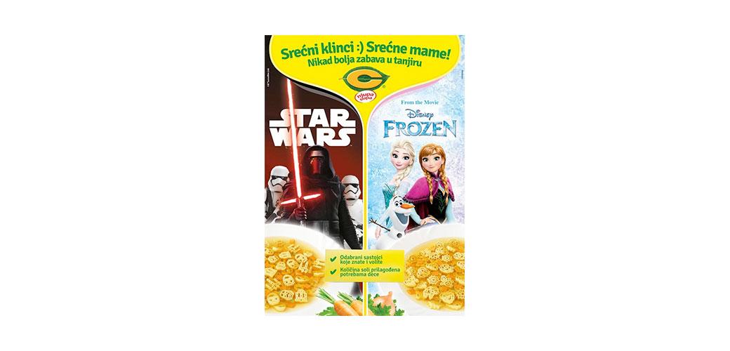 """Nove C dečije supe """"Frozen"""" i """"Star Wars"""""""