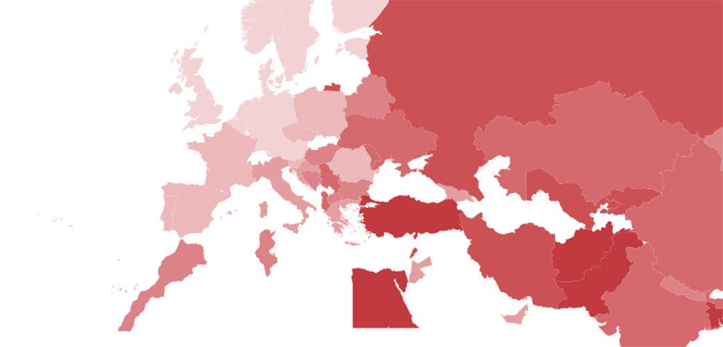Slika: Gde je Srbija na mapi BEZAKONJA?