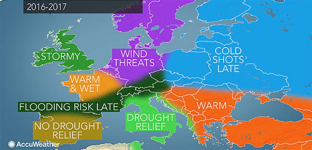 Vremenska prognoza za zimu 2017