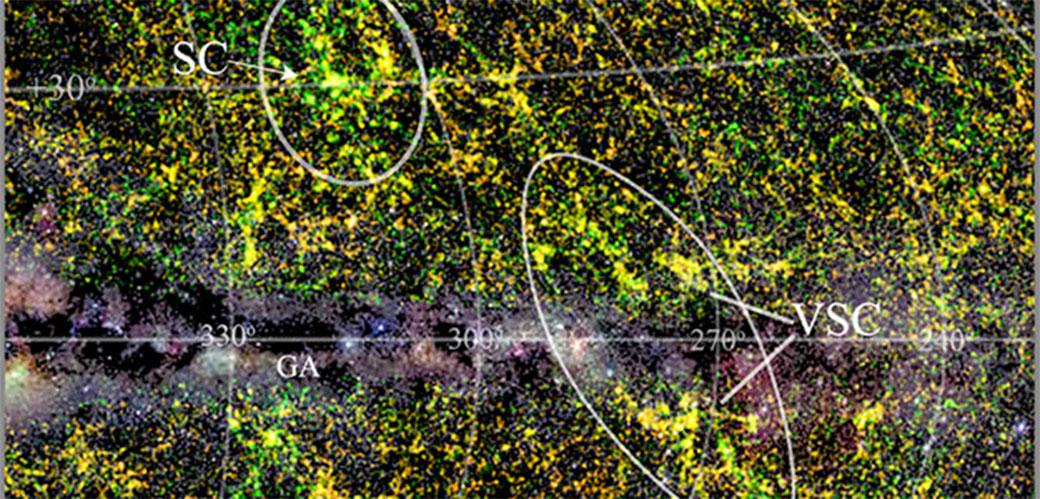 Otkriveno ogromno svemirsko telo koje privlači Mlečni put