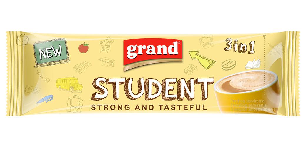 Poklanjamo 3 pakovanja Grand Student kafe