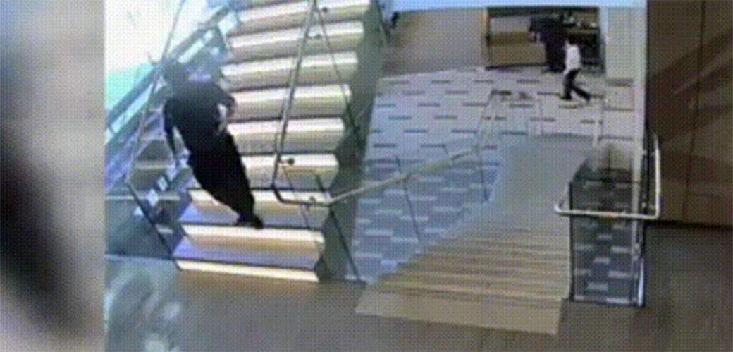 Tip pada niz stepenice a onda nećete verovati šta se dogodilo