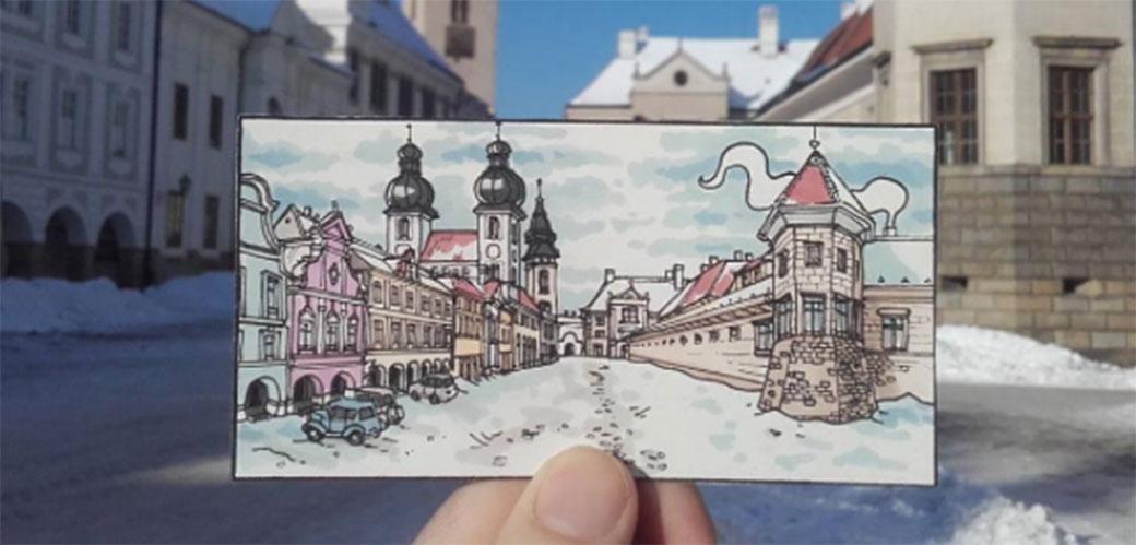 Umetnik putuje i crta Evropske gradove