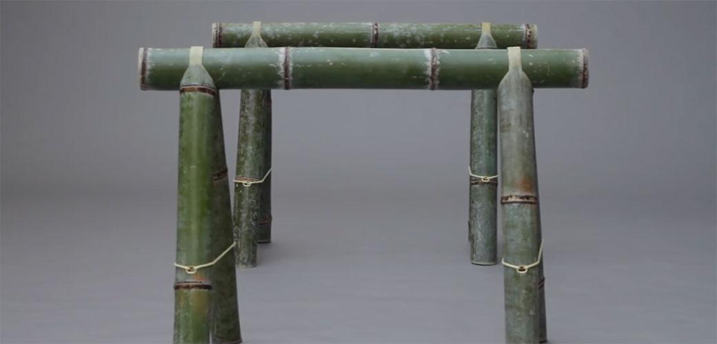 Slika: Nameštaj od bambusa