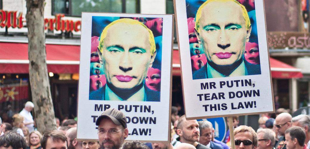 Rusija zabranila gej Putina