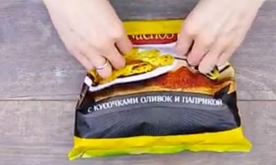 Odličan trik za zatvaranje kesice (recimo čipsa)