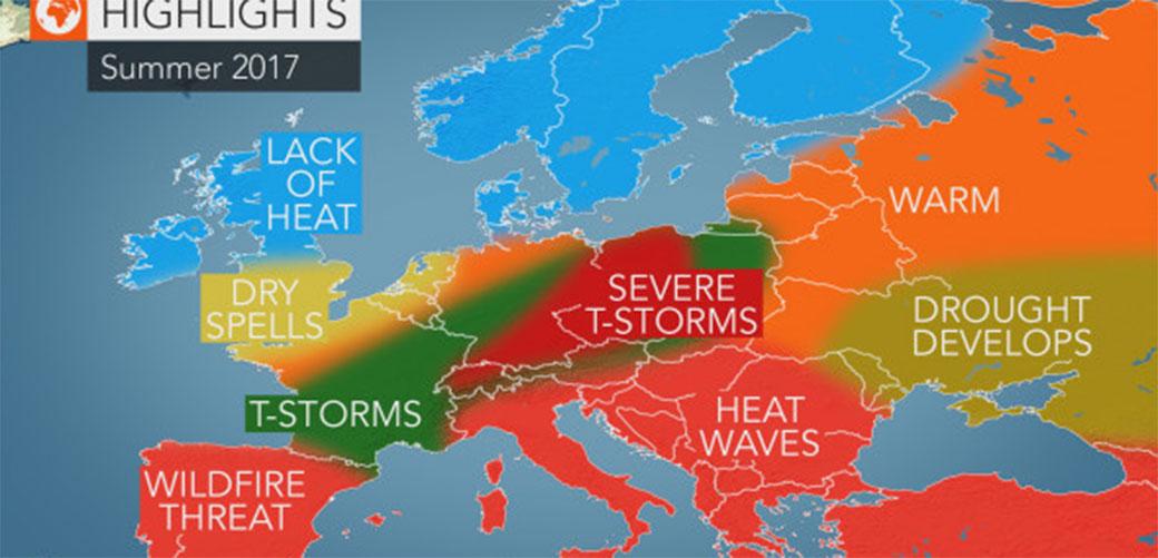 Slika: Dugoročna vremenska prognoza za leto 2017.