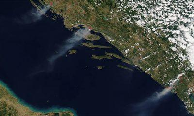 Požari na Jadranu se vide iz svemira  %Post Title