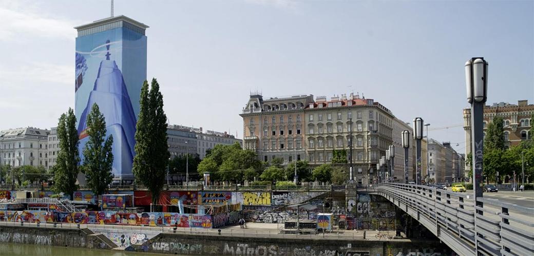 Slika: Mihael Milunović na Bečkom Ringturmu