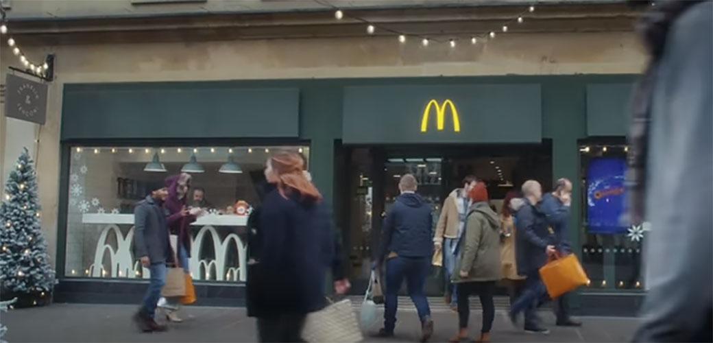 Slika: Slatka praznična reklamica za McDonald's