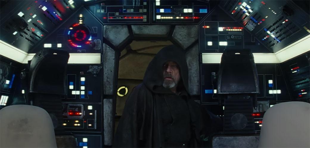 Slika: Luke Skywalker o povratu u Millennium Falcon