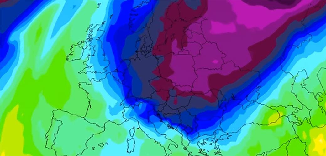 Pogledajte kako se polarni talas približava Srbiji