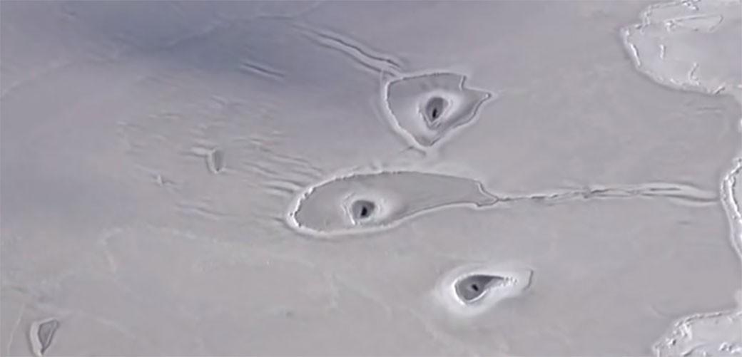 Pojavljuju se misteriozne rupe na Arktiku