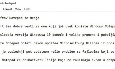 Microsoftov Notepad se menja  %Post Title