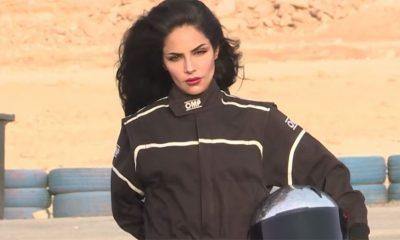 Saudijka pali gume na trkačkoj stazi
