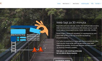 Izrada sajta na klik - 30 minuta i gotovo!