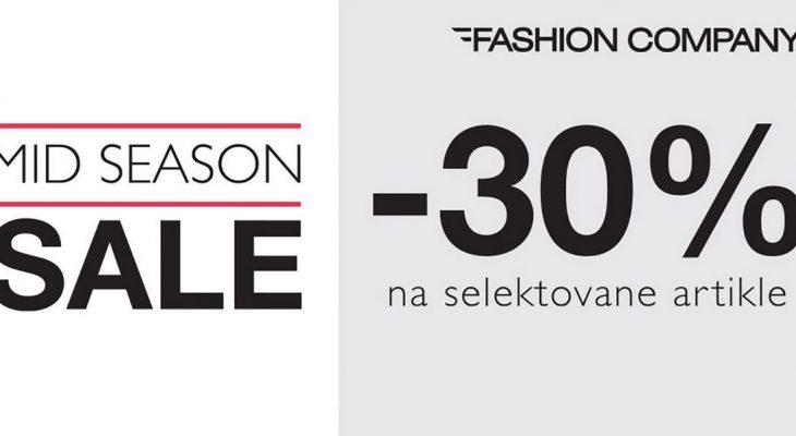 Mid Season Sale u prodavnicama Fashion Company